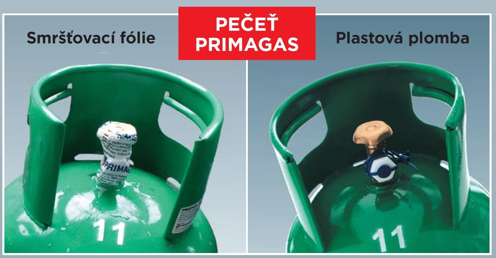 označování láhví PRIMAGAS