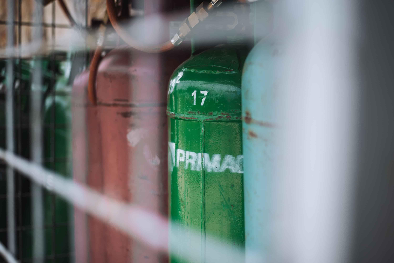 Plynové láhve pro firmy