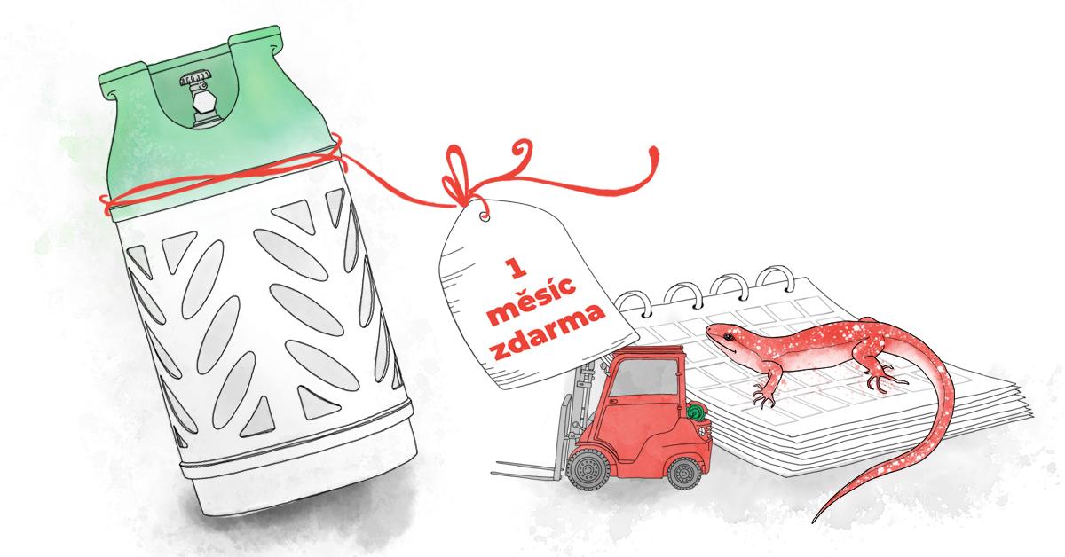 Dodávky plynových láhví do VZV - první měsíc provozu zdarma!